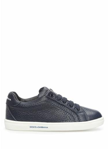 Dolce&Gabbana Dolce&Gabbana  Erkek Çocuk Deri Sneaker 101557441 Mavi